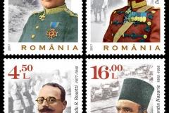 gen. Ioan Dragalina, gen. David Praporgescu, gen. Radu R. Rosetti, col. Constantin Nazarie, preot militar